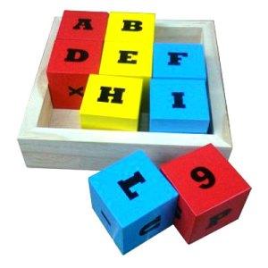 balok 9 angka dan huruf - Membuat Boneka Kayu Sederhana Bubut, Pesanan Custom
