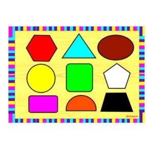 bentuk dan warna - Puzzle Bentuk dan Warna
