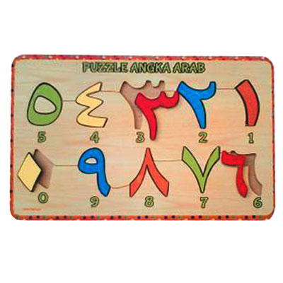 puzzle angka arab - [Best Seller] Aneka Puzzle Dapat 3 Pcs