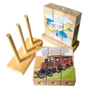 Menara Balok Transportasi 1 - Puzzle Menara Balok Transportasi