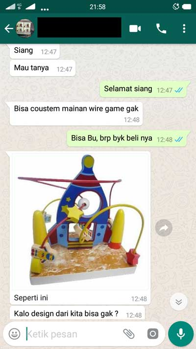 chat pembuat mainan - Cari Pembuat Mainan Kayu, Mau Bikin Mainan Custom Wiregame Angka Delapan