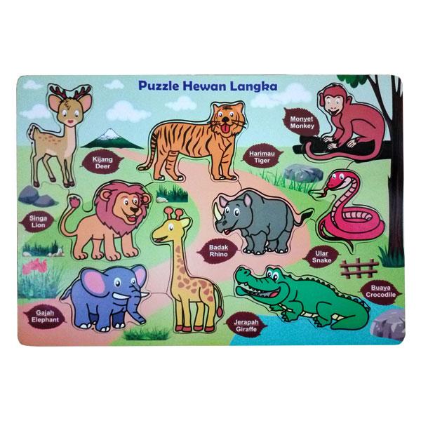 hewan langka puzzle - Paket Puzzle Murah isi 6