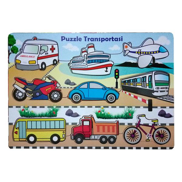 Mainan Anak Edukasi Puzzle Alat Transportasi Kayu Seru
