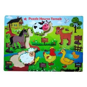 puzzle hewan ternak hew - Puzzle Hewan Ternak