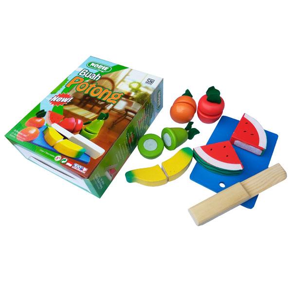 buah potong kayu - Potong Buah Kayu + Tas