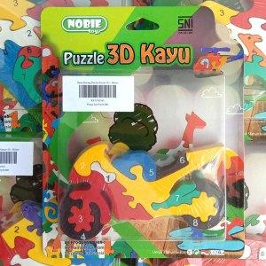 puzzle motor 3d 1 - Souvenir Koin Kayu Untuk Hiasan isi Kotak Hadiah