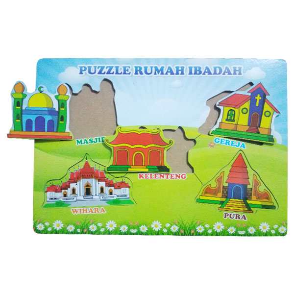 puzzle rumah ibadah - Paket Puzzle Murah isi 6