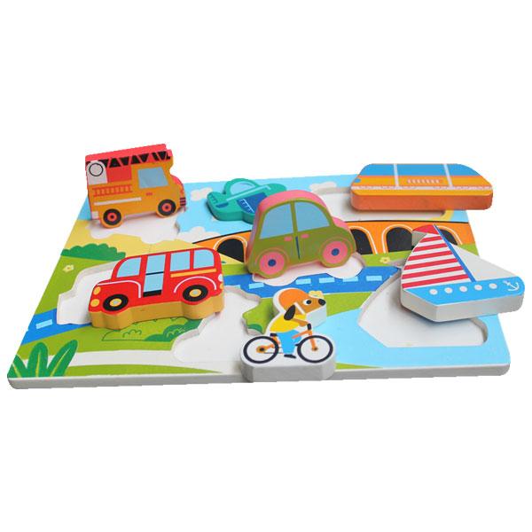puzzle chunky transportasi - Puzzle Tebal Transportasi