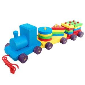kereta geometri - Mainan Edukatif Meningkatkan Kemampuan Kognitif