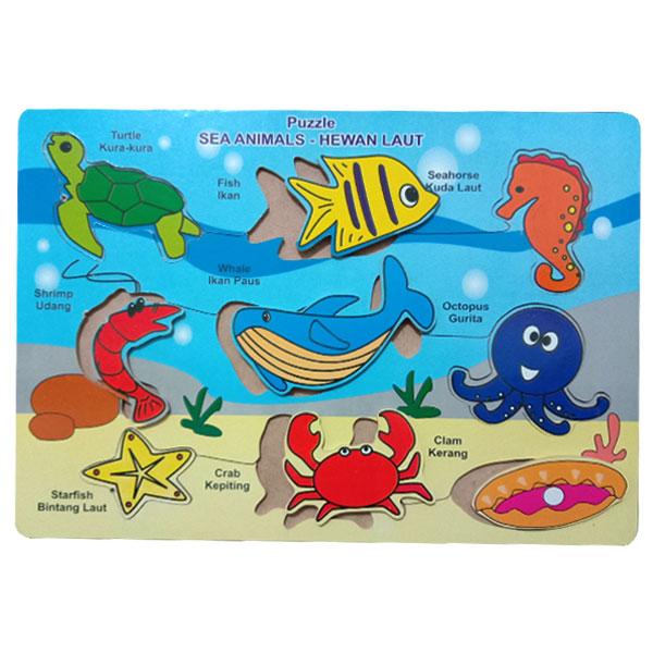puzzle binatang laut 2 - Puzzle Binatang Laut