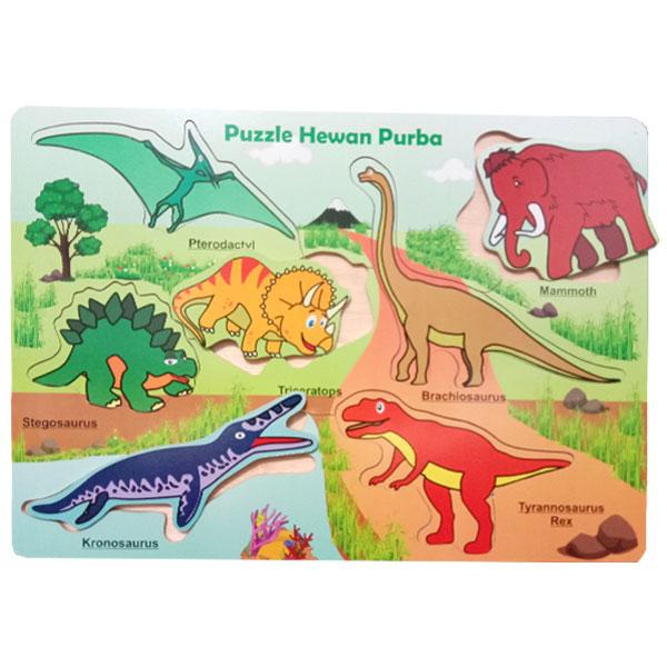 hewan purba puzzle - Paket Puzzle Murah isi 6
