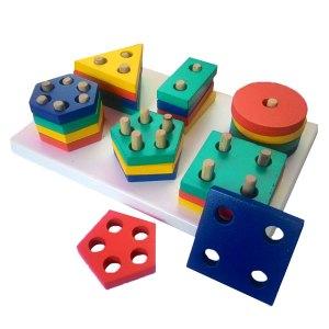 geo bentuk enam - Mainan Anak Puzzle Pilihan Diskon 50% Free Ongkir
