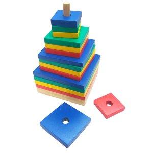 menara pelangi persegi - Menara Kotak Pelangi