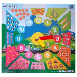 puzzle stiker jam - Mainan Anak Puzzle Pilihan Diskon 50% Free Ongkir