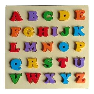 puzzle abjad besar tebal - Puzzle Abjad Besar Timbul