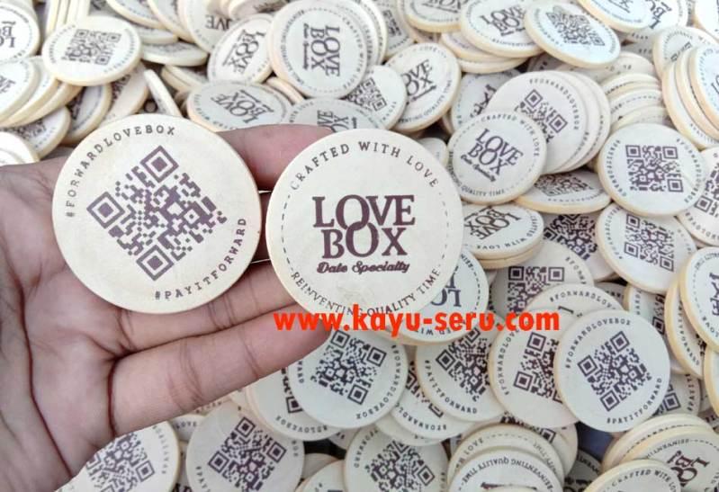 koin souvenir - Souvenir Koin Kayu Untuk Hiasan isi Kotak Hadiah
