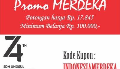 promomerdeka - Promo Indonesia Merdeka, Potongan Harga 17.845