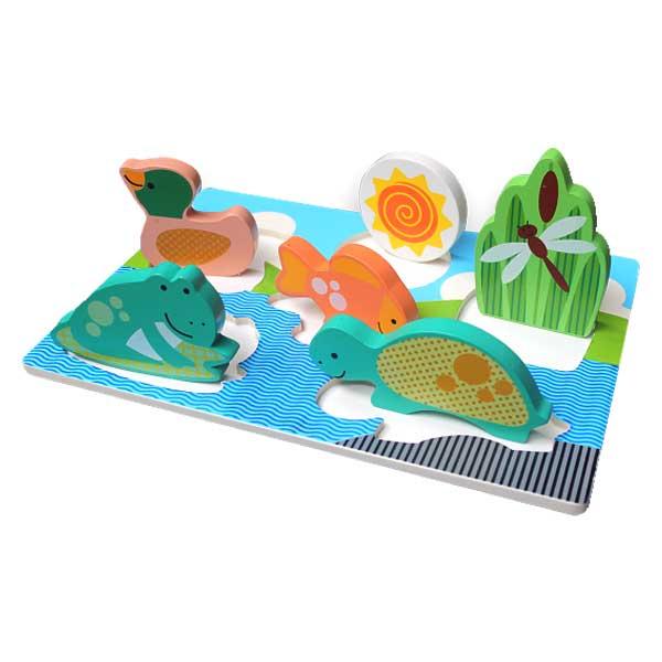 puzzle chunky binatang kolam - Puzzle Chunky Binatang Kolam