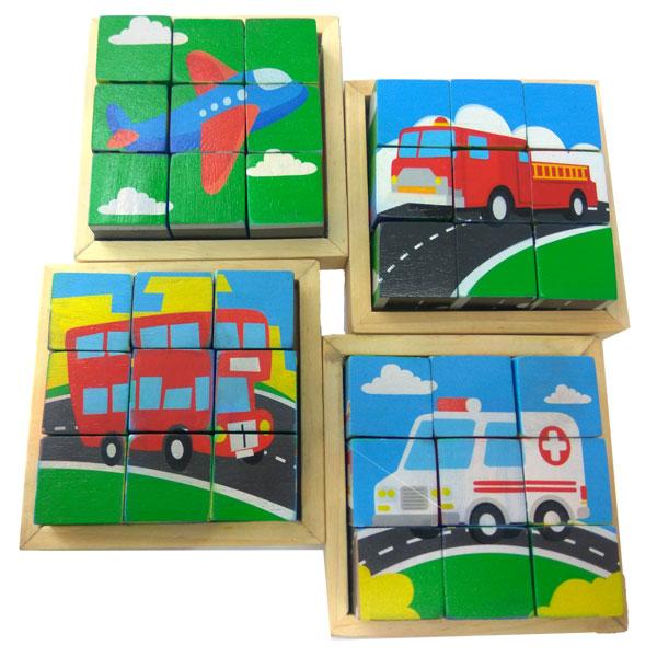 puzzle kubus tema transportasi - Puzzle Kubus Transportasi