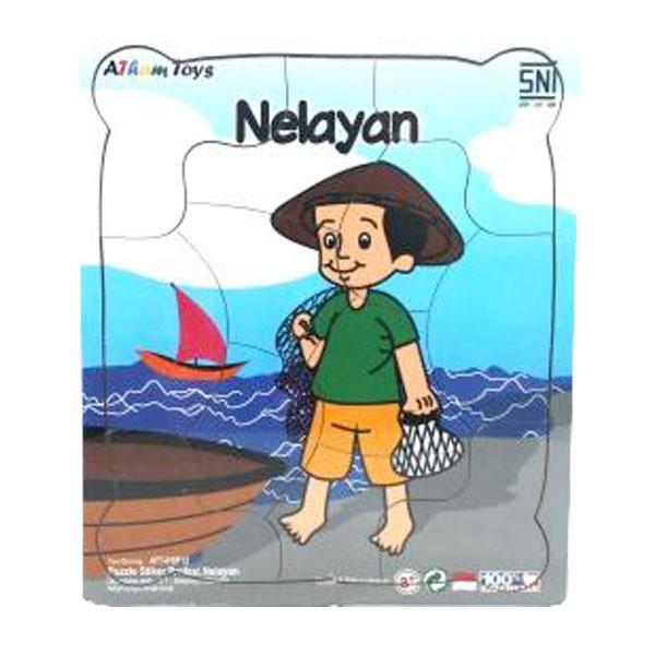 puzzle profesi nelayan - Puzzle Profesi Nelayan