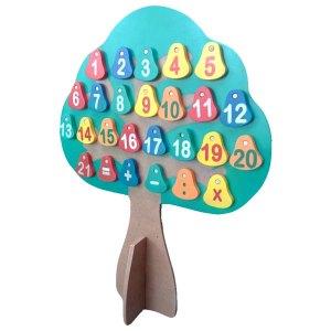 Pohon Alphabet Angka Bolak Balik - Piala Kelulusan Bimba AIUEO Sawangan Depok, Plakat Kayu