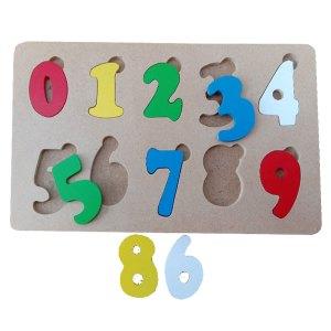 Puzzle Angka Coak - Plakat Untuk Wisuda Dari Kayu Untuk TK Dhian