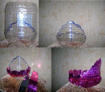 نحوه ساخت یک تاج با بطری پلاستیکی خود و 5 دقیقه