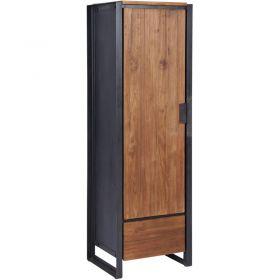 armoire teck et metal d bodhi sing 50cm droite