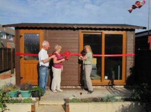 Grand shed-opening ceremony