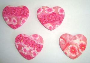 Pink Heart Pendants