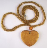 mica-shift heart necklace