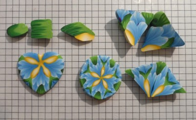 polymer clay kaleidoscope cane experiments