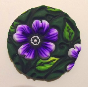 sutton slice polymer clay technique - lisa pavelka garden glory texture stamp