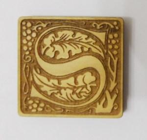 """William Morris laser cut letter """"S"""""""