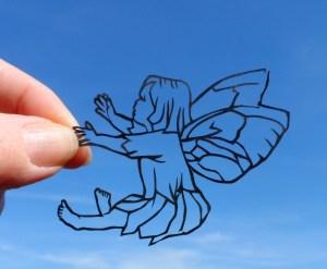 flower fairy papercutting