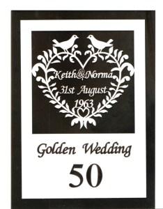 golden wedding card scan