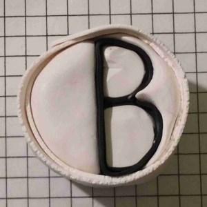 polymer clay alphabet cane tutorial - letter B
