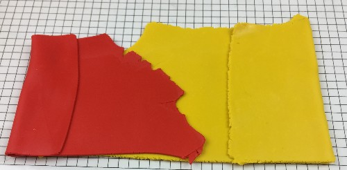 polymer clay sheets ready for a rough Skinner blend