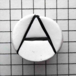 polymer clay alphabet cane - letter A