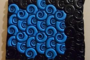 Lisa Pavelka's sutton slice polymer clay technique - swirlyQ texture stamp