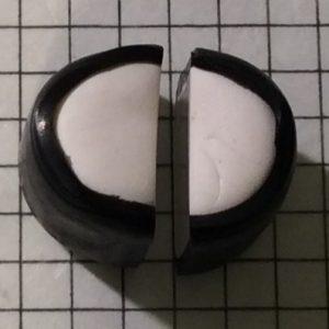 polymer clay alphabet cane tutorial: Letter C