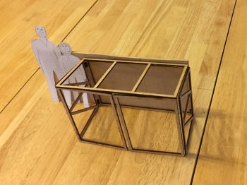 laser cut scale model of DIY Foldaway / Pop-Up Motorcycle Shed