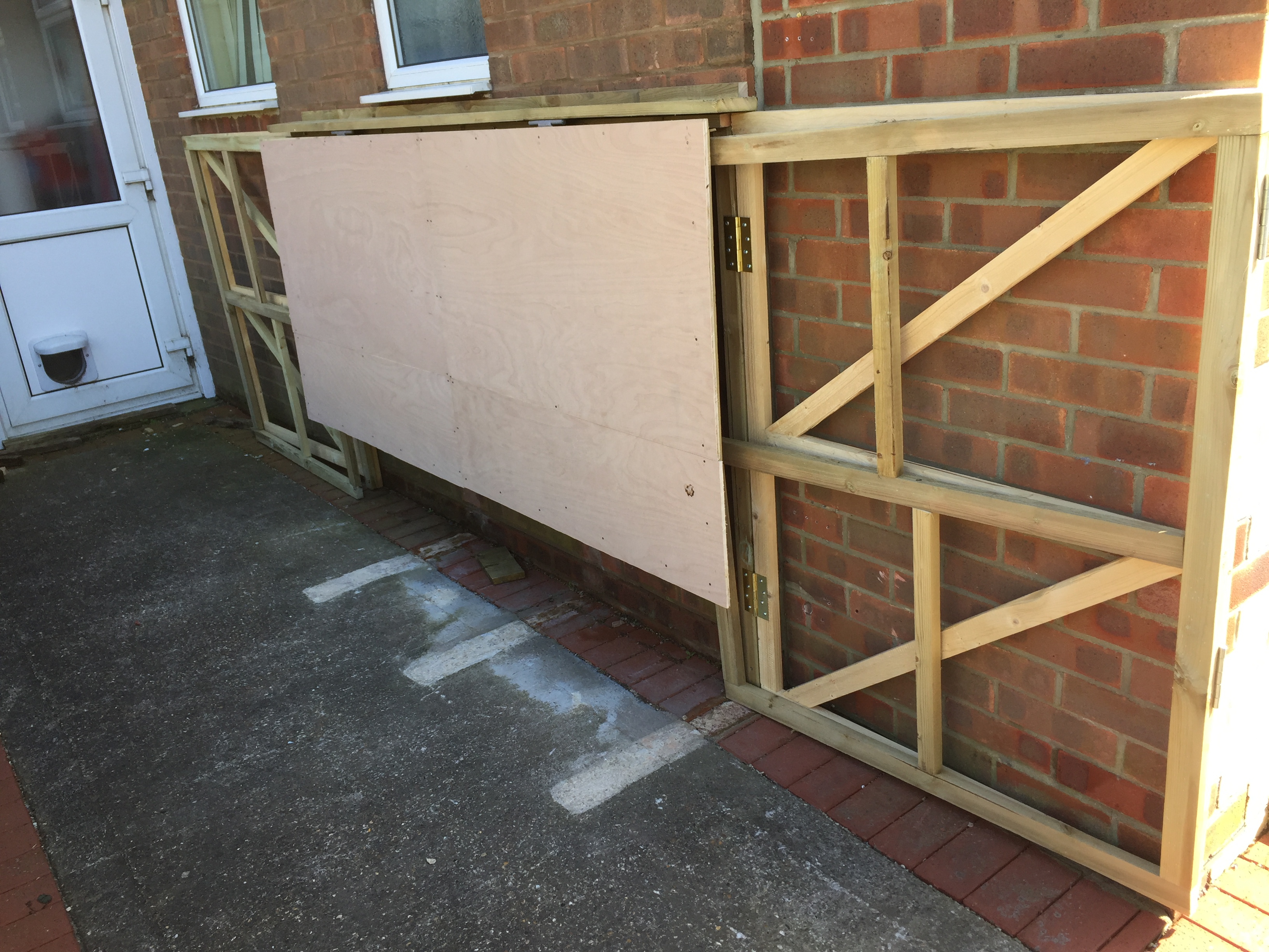 How I Made a DIY Foldaway / Pop-Up Motorcycle Shed