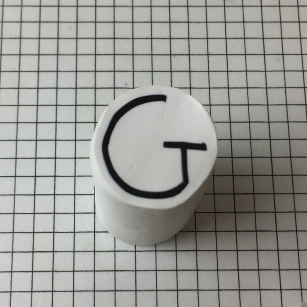 Letter G polymer clay cane alphabet tutorial