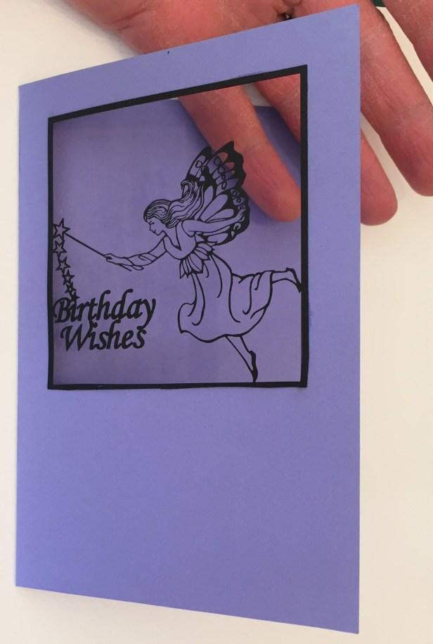 laser cut birthday wishes card