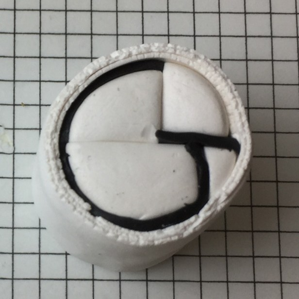 Letter G polymer clay alphabet cane - step12