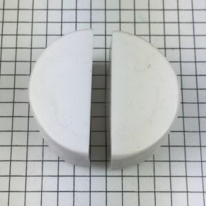 Letter P polymer clay alphabet cane tutorial - cut cylinder