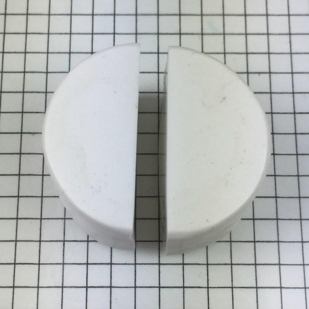 Letter R polymer clay alphabet cane tutorial - cut cylinder