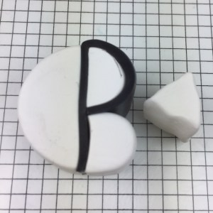 Letter P polymer clay alphabet cane tutorial - make a triangle