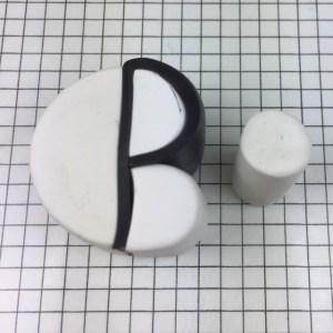 Letter P polymer clay alphabet cane tutorial - make cylinder taller